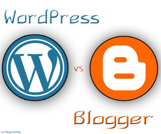 Blogger-Vs-Wordpress qual é o melhor