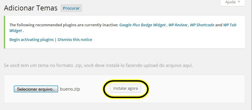 como instalar temas wordpress 6